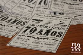 Invitacion Vintage 70 Anos Monadas Invitaciones Vintage