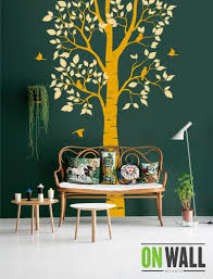 Large Nature Tree Wall Decal With Birds Vinyl Decals Nature Etsy