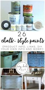 chalk style paint for furniture