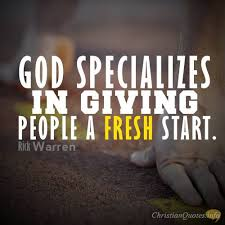 ways to get a fresh start christian quotes facebook