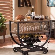wine rack bar cart industrial chic on
