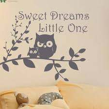Yoyoyu Vinyl Wall Decal Sweet Dreams Little One Owl Animal Cartoon Home Decoration Stickers For Kids Room Fd309 Home Decor Stickers Decorative Stickersowl Animation Aliexpress
