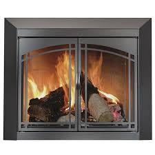 fairmont fireplace glass door black