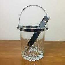 luminarc france glass ice bucket w
