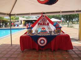 Captain America Pool Party Piscinada Capitan America