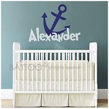 Battoo Baby Boy Nursery Custom Name Wall Decal Anchor Name Wall Decal Personalized Name Nautical Nursery Decor Beachfront Decor
