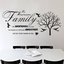 Family Quote Wall Decal Family And Tree Wall Vinyl Quote Etsy