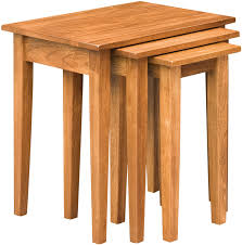 shaker nesting table set amish shaker
