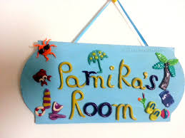 Door Sign Nameplate Theme Beach Sketchiistudio