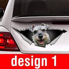 Amazon Com Donl9bauer Schnauzer Car Sticker Dog Car Decal Schnauzer Decal Car Decoration Pet Decal Home Kitchen