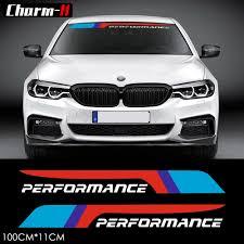 2pcs Reflective M Performance Front Rear Windshield Window Decal Stickers For Bmw F10 F20 M3 M5 E46 E60 E39 E90 F15 F16 F30 F31 Sticker For Bmw Decal Stickerm Performance Aliexpress