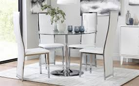 dining table with 4 celeste white