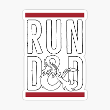 Run Dnd Stickers Redbubble