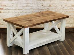 farmhouse coffee table made from