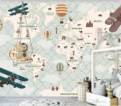 Hd Child Animal Hot Air Balloon World Map Photo Mural Wallpaper Study Kids Room Living Room Decor 3d Wallpaper Modern Hd Wallpapers Hd Hd Wallpapers Hd Wallpapers From Zeze55 16 92 Dhgate Com