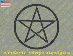 Pentagram Pagan Religious Vinyl Decal Sticker For Wall Car Etc Laptop