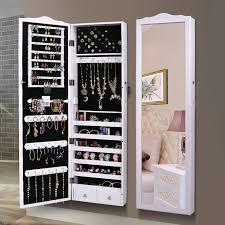 jewelry storage cabinet wall mirror