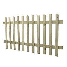 Forest 5 11 X 2 11 Wooden Pale Picket Fence Panel 1 8m X 0 9m Fencestore