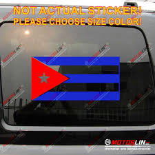 Flag Of Cuba Decal Sticker Car Vinyl Pick Size Die Cut No Bkgrd Red Blue Only Car Stickers Aliexpress