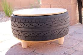 diy recycled tire coffee table persia lou