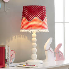 Patchwork Bucket Shaped Table Lamp Modernist Fabric 1 Light Kids Bedroom Night Light In Red Beautifulhalo Com