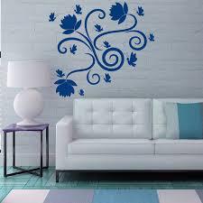 Shop Rose Butterfly Flowering Blossom Stickers Vinyl Sticker Art Mural Bedroom Kids Room Decor Sticker Decal Size 44x44 Color Black On Sale Overstock 14757976