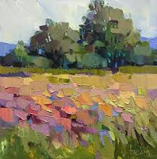 Almost Summer by Trisha Adams Oil ~ 12 x 12 | Abstract art landscape,  Landscape art, Landscape paintings
