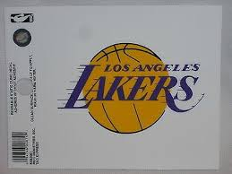 Los Angeles Lakers Logo Static Cling Sticker New Window Or Car Nba Kobe Los Angeles Lakers Logo Lakers Logo Los Angeles Lakers