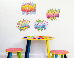 Pow And Boom Decal Etsy