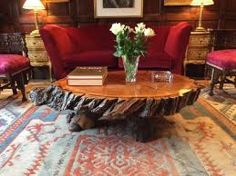 rustic reclaimed lacquered tree stump