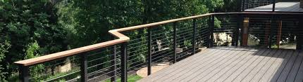 modern deck rails glass vs cable
