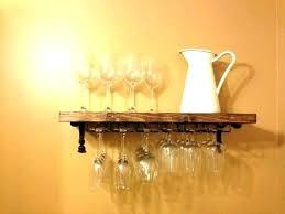 floating wine glass shelf welland white
