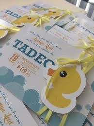 Invitacion De Patitos Littleduck Babyshower Invitation