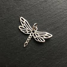 charm dragonfly pendant sterling silver