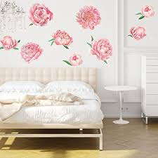 Amazon Com Chromantics Pretty Pink Peonies Watercolor Wall Decal Kit Pink Floral Decor Home Kitchen