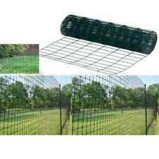 10m 20m 30m 40m X 0 9m Green Pvc Coated Garden Border Fence Fencing Wire Mesh Ebay