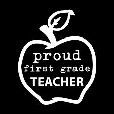 Proud First Grade Teacher Apple Vinyl Decal Sticker Cars Trucks Vans Windows Walls Cups Laptops White 5 X 4 1 Kcd1968 Walmart Com Walmart Com