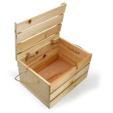 natural wooden crate storage box with