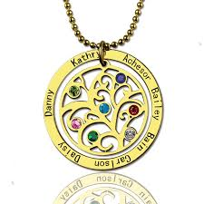 birthstone necklace in 18ct gold plated