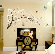 White Cherry Blossom Tree Branch Decals Mural Art Decoration Wall Sticker Vinyl Removable And Reusable For Home Hotel Cafe Wallcorners Art Canvas