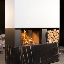 wood burning fireplace contemporary