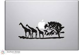Amazon Com Giraffe Safari Silhouette Vinyl Car Sticker Symbol Silhouette Keypad Track Pad Decal Laptop Skin Ipad Macbook Window Truck Motorcycle Black Home Kitchen