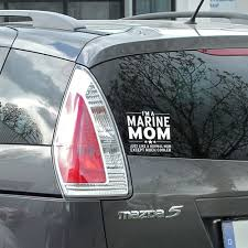 Marine Mom Car Decal Sticker Vehicle Sign Us Marines Mom Car Marine Mom Marine