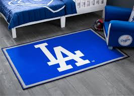 Los Angeles Dodgers Soft Area Rug With Non Slip Backing 4 X 2 6 Delta Children