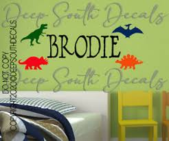 Dinosaur Dino Trex Kids Room Name Personalized Bedroom Wall Decal Vinyl Decor Ebay
