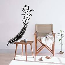 Amazon Com Flywalld Birds Of A Feather Wall Decal Flying Birds Vinyl Art Stickers Living Room Bedroom Headboard Decor Home Kitchen