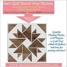 Barn Quilt Stencil Art Vinyl Sticker Wood Project Diy Farmhouse Decor Wall Decor Plus More