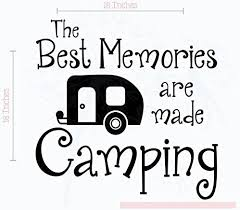 Amazon Com Best Memories Made Camping Wall Decals For Camper Wall Art Sticker Family Quote 18x18 Inch Glossy Black Home Kitchen