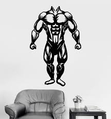 Vinyl Wall Decal Muscles Gym Bodybuilding Muscled Anatomy Stickers Uni Wallstickers4you
