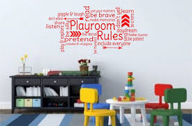 Playroom Rules Vinyl Wall Decal 14 99 From 40